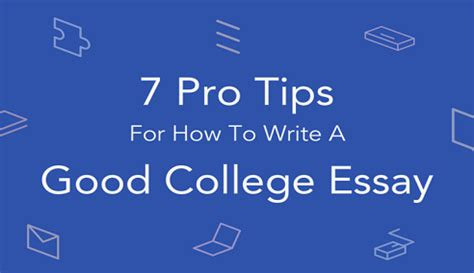 Good essays for college